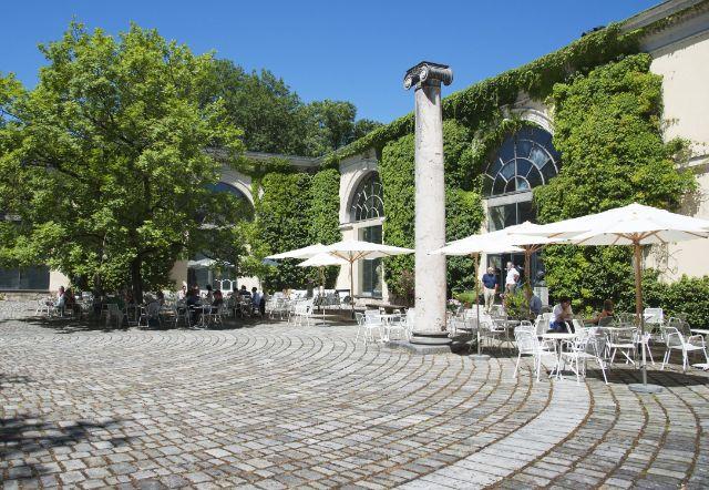 Innenhof der Glyptothek mit Café, Foto: Staatliche Antikensammlungen und Glyptothek München