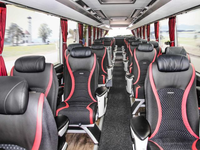 Interieur der Sightseeingbusse von Gray Line SIGHTseeing Munich, Foto: Gray Line SIGHTseeing Munich