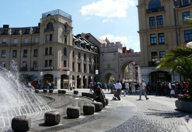 Brunnen am Stachus, Foto: muenchen.de