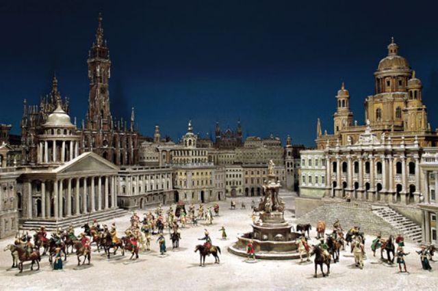 Krippe Phantasiebild der Stadt Jerusalem aus dem Bayerischen Nationalmuseum, Foto: Bayerisches Nationalmuseum