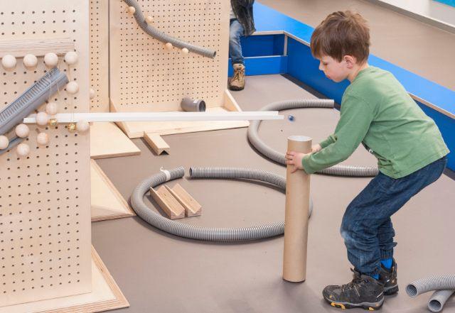 Die Kugelbahn im neuen Kinderreich im Deutschen Museum