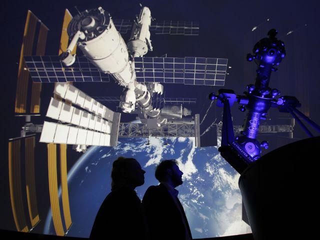 Planetarium im Deutschen Museum Abbildung der ISS, Foto: Goran Gajanin/Zeiss /Deutsches Museum