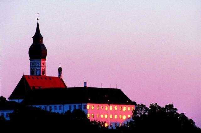 Kloster Andechs Abendstimmung, Foto: Kloster Andechs
