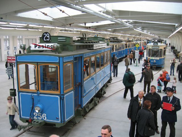 Alte Tramwagons im Inneren des MVG Museums in München., Foto: MVG, Wolfgang Grolms