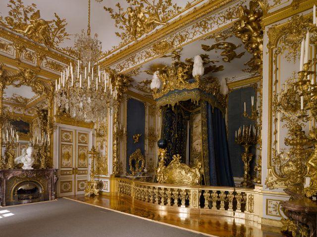 Paradeschlafzimmer im Schloss Herrenchiemsee, Foto: Bayerische Schlösserverwaltung - www.schloesser.bayern.de