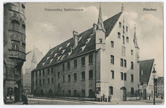 "O. Zieher, Postkarte ""Historisches Stadtmuseum München"" , Foto: Münchner Stadtmuseum"