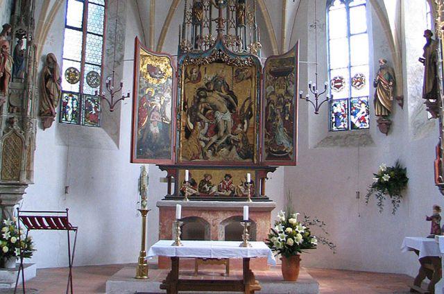 Altar der Schlosskapelle Blutenburg, Foto: Patrick Huebgen (Wikipedia)