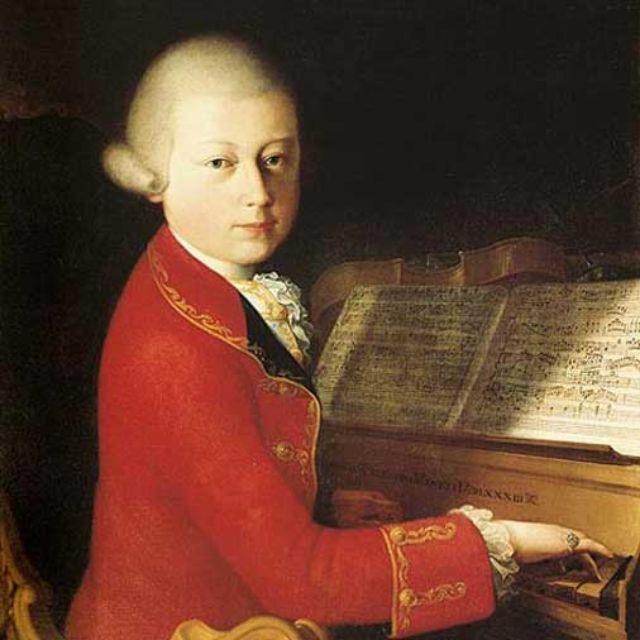 Wolfgang Amadeus Mozart auf einem Portrait., Foto: Mozart Portraits on Mozart Forum
