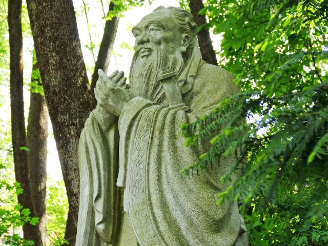 Konfuzius-Denkmal im Dichtergarten, Foto: muenchen.de/Mark Read