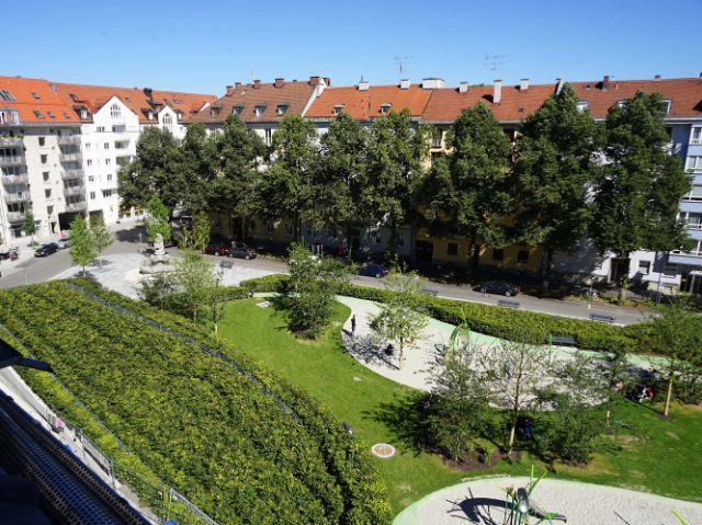 Der erneuerte Josephsplatz Sommer 2016: Grünanlage, Foto: muenchen.de/Dan Vauelle