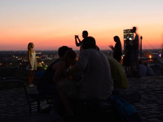 Sommerabend auf dem Olympiaberg, Foto: muenchen.de/Michael Hofmann