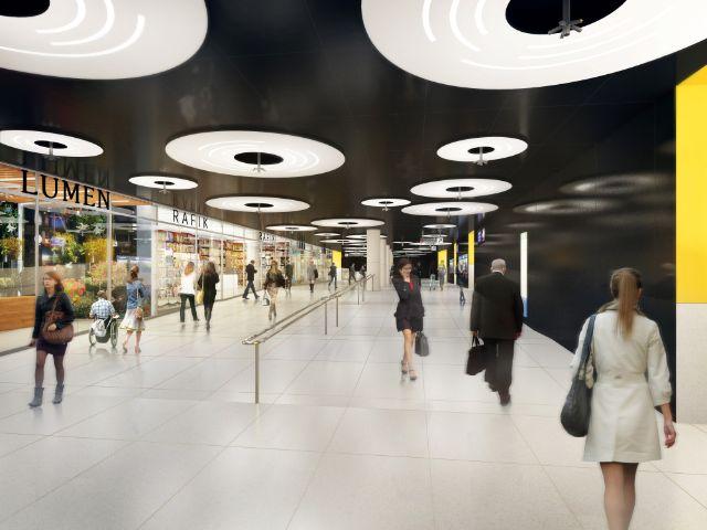 Visualisierung: So soll das Sperrengeschoss im U-Bahnhof Sendlinger Tor aussehen, Foto: SWM/MVG