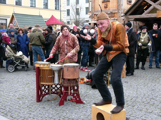 Gaukler auf dem Mittelaltermarkt, Foto: Mittelaltermarkt