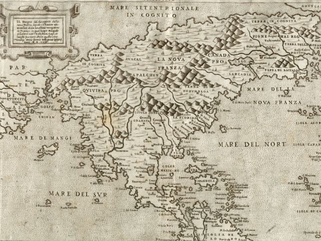 Eine Karte aus dem Lafreri-Atlas, Foto: Bayerische Staatsbibliothek