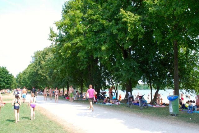 Lußsee Badesee München Promenade