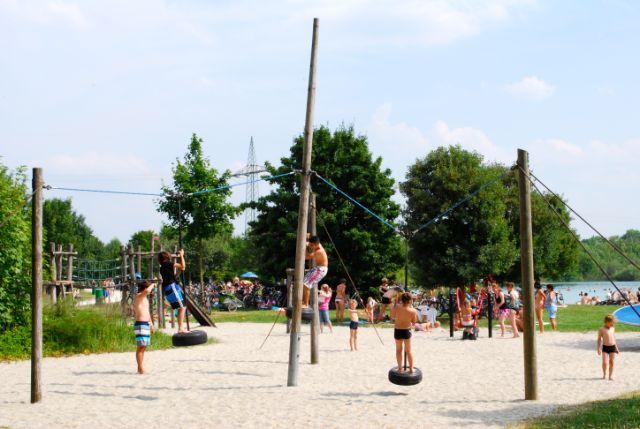 Lußsee Badesee München Spielplatz, Foto: Michael Neißendorfer