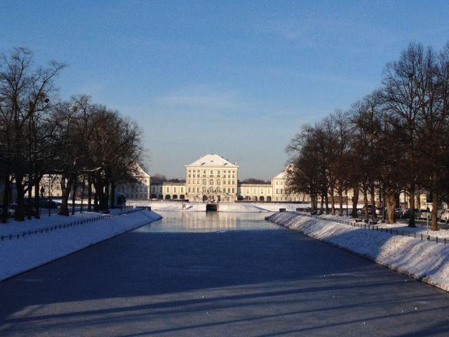 Winterliche Stimmung beim Schloss Nymphenburg, Foto: muenchen.de/Melina Pfeffer