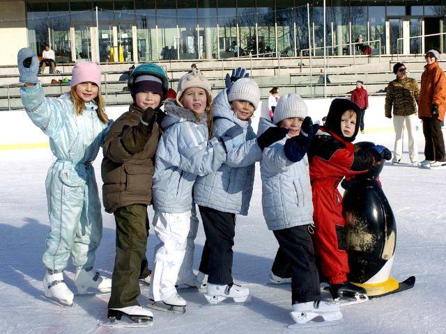 Eislaufen im Prinzregentenstadion, Foto: SWM