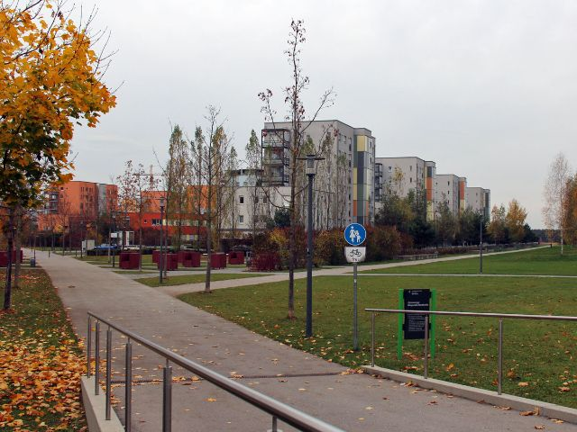 Neubausiedlung Am Hart, Panzerwiese, Foto: Christian Brunner