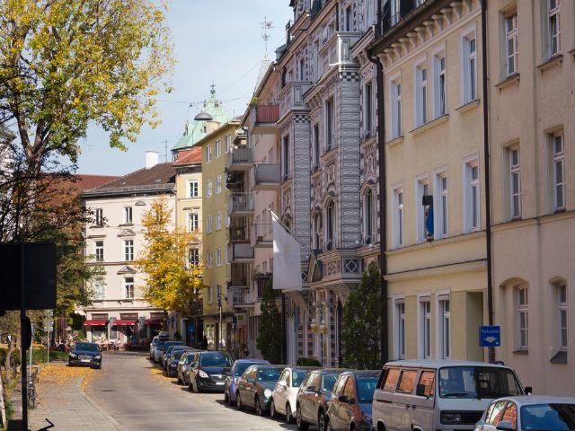 Wohngegend in München Lehel