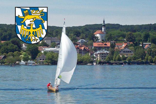 Segelboot auf Starnberger See, im Hintergrund Kirche St. Josef, Foto: Tour.verb. Starnberger Fünf-Seen-Land
