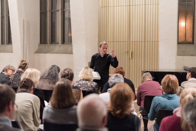 Eine Probe des Münchner Mottetenchors , Foto: Daniel Schvarcz