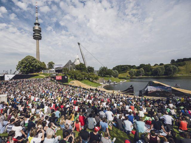 Mountainbike-Wettbewerb im Olympiapark, Foto: Munich Mash