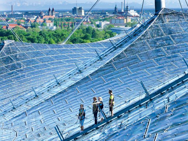 Zeltdachtour auf dem Olympiastadion, Foto: Olympiapark München GmbH