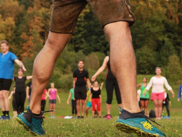 Lederhosentraining im Englischen Garten, Foto: Bavarian Sports UG