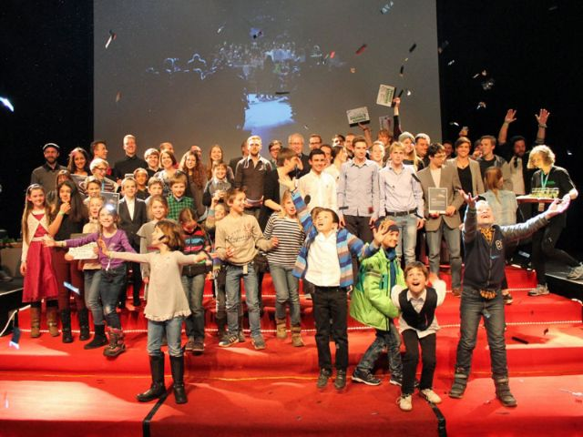Siegerehrung beim Festival Flimmern und Rauschen 2016, Foto: Flimmern und Rauschen