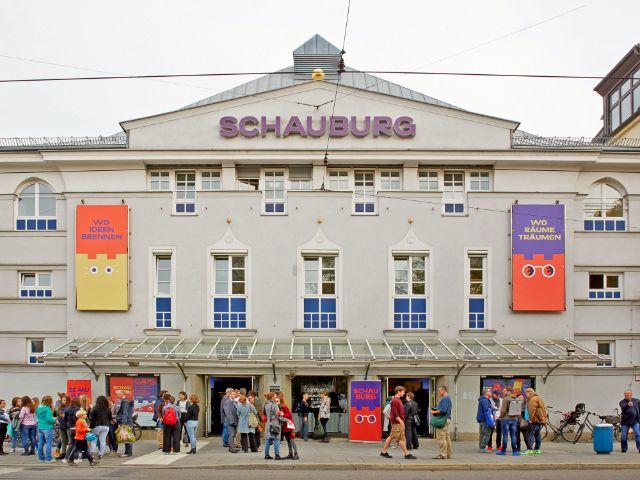Frontansicht der Schauburg, Foto: Judith Buss