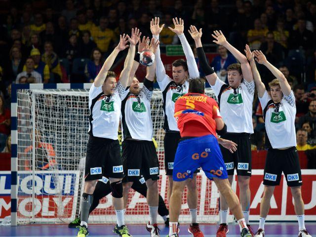 Handball-Nationalspieler - Spielszene bei der EM 2016