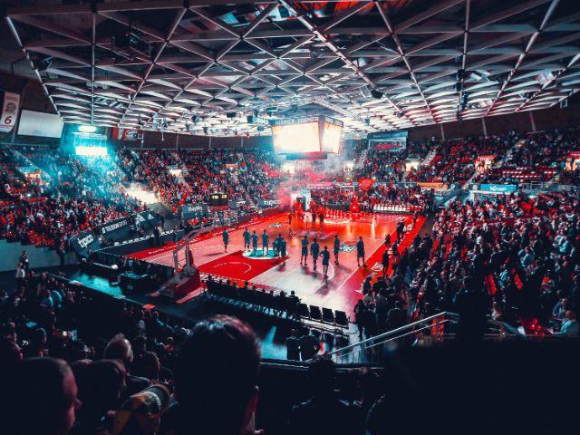 Blick auf das Spielfeld im Audi Dome, Foto: FC Bayern Basketball