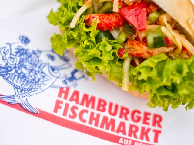 Fischbrötchen auf dem Hamburger Fischmarkt in München, Foto: Hamburger Fischmarkt