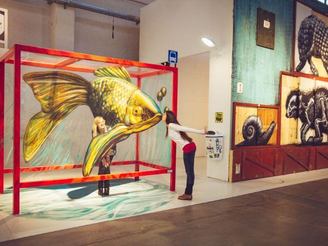 "Werk aus der Ausstellung ""Magic City"", Foto: Frank Embacher"