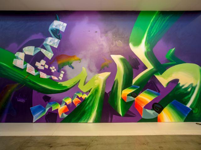 """Werk des Künstlers Loomit aus der Ausstellung """"Magic City"""", Foto: Frank Embacher"""