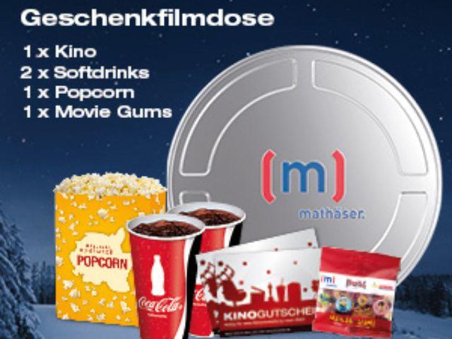 Filmdose zum Verschenken inkl. Kinoticket, Getränke, Popcorn & Movie Gums, Foto: Mathäser