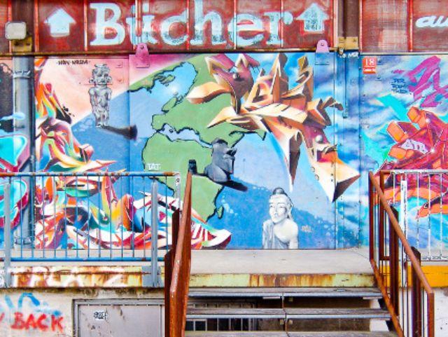 Graffiti im Werksviertel Mitte, Foto: Werksviertel Mitte