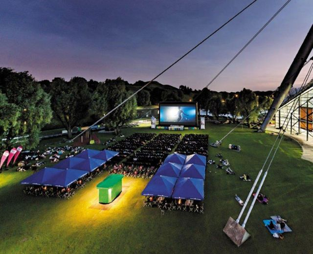 Das Open Air Kino am Olympiasee., Foto: Kino am Olympiasee