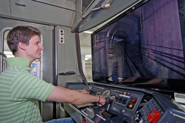 Der U-Bahnsimulator im MVG-Museum., Foto: MVG