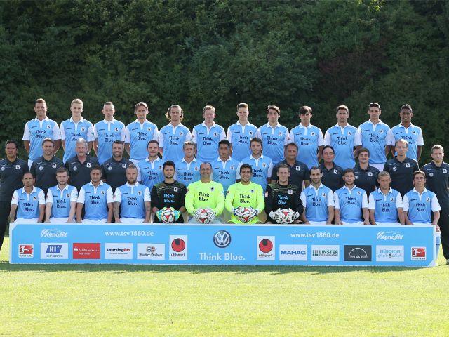 Der Profi-Kader des TSV 1860 München in Saison 2014/15, Foto: TSV 1860 München