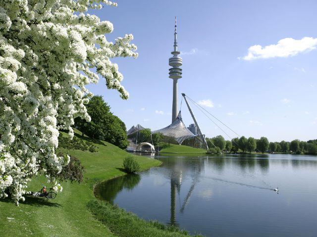 Der Olympiasee im Olympiapark, Foto: Olympiapark München