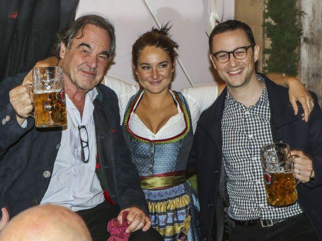 Oliver Stone, Shailene Woodley und Joseph Gordon-Levitt