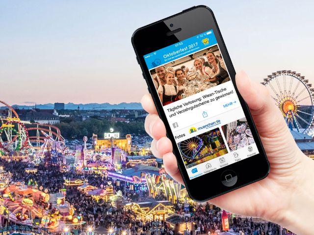 Oktoberfest Panorama mit Wiesn-App, Foto: muenchen.de