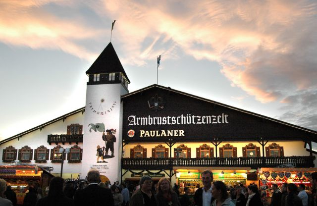 Beer tents on the Oktoberfest & Oktoberfest Beer tents