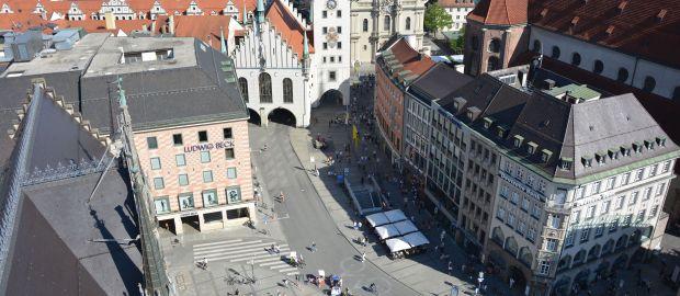 Marienplatz mit Altem Rathaus
