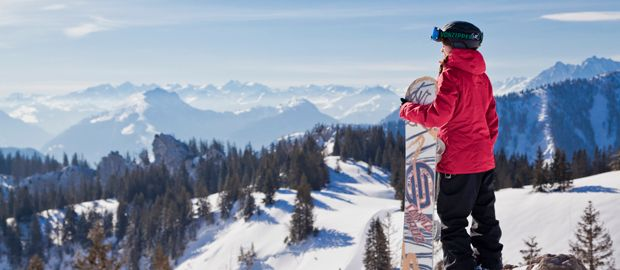 Snowboarden Kampenwand, Foto: www.chiemsee-alpenland.de