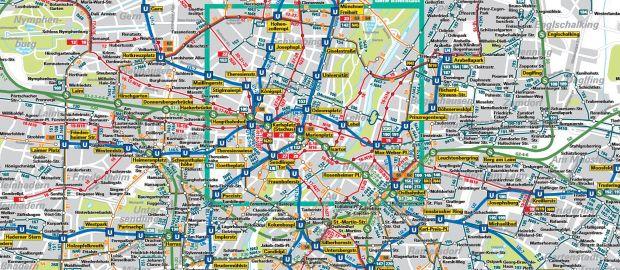 Der Verkehrslinienplan für München, Foto: MVV