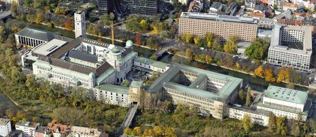 Luftaufnahme vom Deutschen Museum, Foto: Deutsches Museum