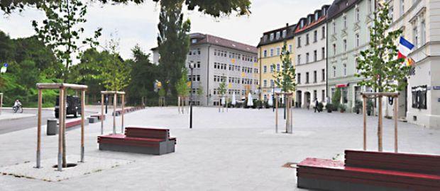 Hans-Mielich-Platz, Foto: Baureferat, Stefanie Remmele